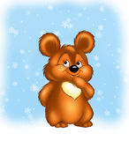 Christmas teddy-bear Stock Image