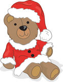 Christmas teddy bear. Illustration of a christmas teddy bear Royalty Free Stock Images