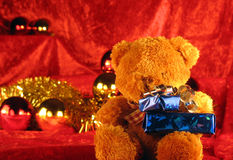 Christmas teddy bear Royalty Free Stock Photography