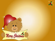 Christmas teddy bear  Royalty Free Stock Images