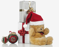 Christmas teddy bear Royalty Free Stock Image