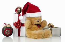 Christmas teddy bear Stock Image