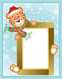 Christmas teddy bear frame Royalty Free Stock Photography