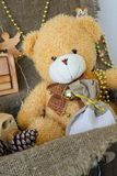 Christmas teddy bear Stock Images