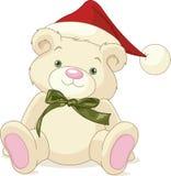 Christmas Teddy Bear. Christmas rough, painterly childs teddy bear Royalty Free Stock Images