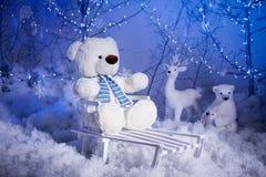 Christmas teddy bear Stock Images