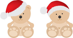Christmas teddy bears Stock Photos