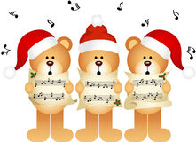Christmas teddy bears choir singing Royalty Free Stock Photography