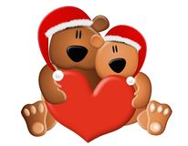 Christmas Teddy Bears Love Royalty Free Stock Photography