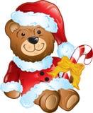 Christmas teddy beay Stock Photos