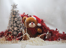 Christmas teddy 3 Royalty Free Stock Photography
