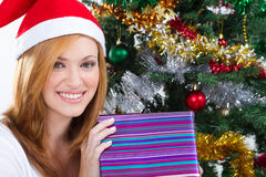 Christmas teen girl Stock Photo