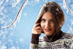 Christmas teen girl Royalty Free Stock Photography