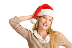Christmas teenage girl Stock Images