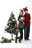 Christmas of Teenagers Stock Photo