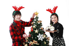 Christmas of Teenagers Royalty Free Stock Image