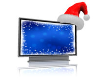 Christmas television Royalty Free Stock Image