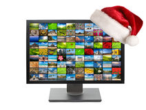 Christmas television Stock Photo