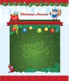 Christmas template Stock Photos