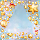 Christmas template with copyspace. EPS 10. Christmas template with space for greetings. EPS 10 vector file included Royalty Free Stock Photo