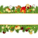 Christmas template with fir Stock Photos