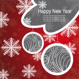 Christmas template frame design for greeting card Stock Photography