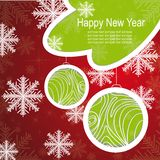 Christmas template frame design for greeting card. Vector illustration stock illustration