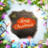 Christmas template with label. EPS 10 Stock Images