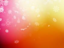 Christmas template on orange background. EPS 10 Royalty Free Stock Images