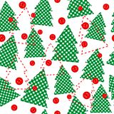 Christmas template wrapping paper in patchwork style Stock Image