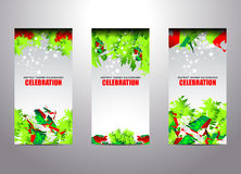 Christmas templates banner backgrounds. Vector illustration Royalty Free Stock Images