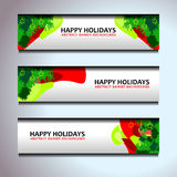 Christmas templates banner backgrounds. Vector illustration Stock Photos