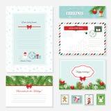 Christmas templates set. Stock Photography