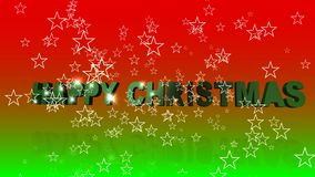 Christmas Text Animation stock video footage