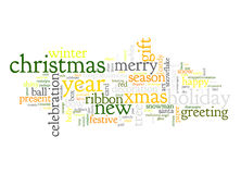 Christmas text cloud Royalty Free Stock Image