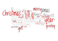 Christmas text cloud Royalty Free Stock Images