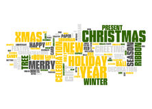 Christmas text cloud Stock Photo