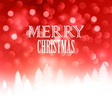 Christmas text  design on bokeh background. Vector Royalty Free Stock Image
