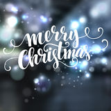 Christmas text  design on bokeh background. Vector Royalty Free Stock Photography