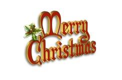 Christmas text Illustration 3D Stock Photo