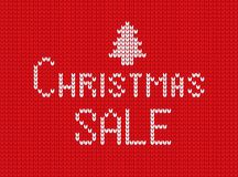 Christmas text image on knitted background. royalty free illustration