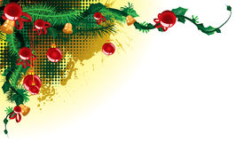 Christmas text place. Paste your christmas greeting to front Royalty Free Stock Photography