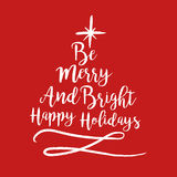 Christmas text quote typography tree illustration Stock Images