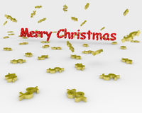 Christmas text sign Royalty Free Stock Photo