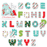 Christmas textile font. Royalty Free Stock Photography