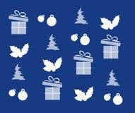 Christmas texture with christmas symbols Stock Photos