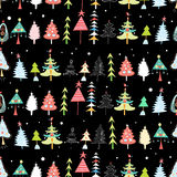 Christmas texture with Christmas trees Royalty Free Stock Images