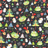 Christmas texture of frogs Royalty Free Stock Photos