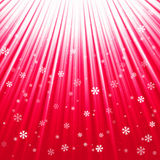 Christmas texture with shining snowflakes and rays. Vector illustration of Christmas texture with shining snowflakes and rays Stock Photo
