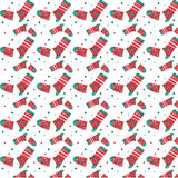 Christmas texture from socks. To decorate the fireplace, postcards. Creates New Year`s mood Stock Photography